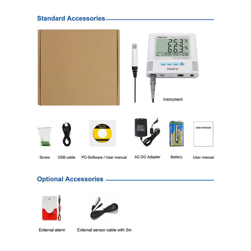 S500-EX Temperature and Humidity Data Logger