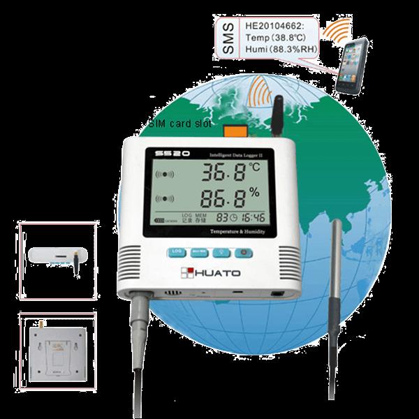 S520 GSM Alarm Temperature Humidity Data Logger