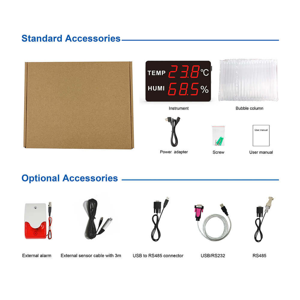 HE230-EX Large LED Display Temperature and Humidity Transmitter