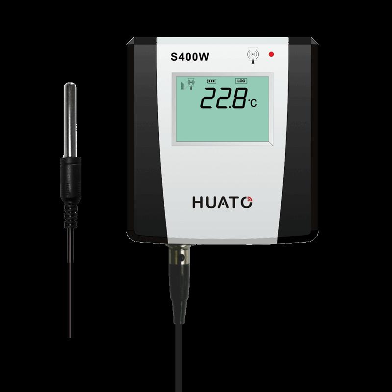 Model: S400W-ET Sensor Type:Exteranl sensor Range:-40~85℃/0~100%RH